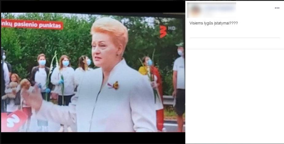 Dalia Grybauskaitė renginyje