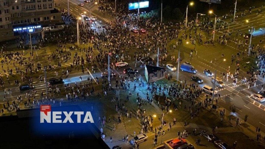 """""""NEXTA"""" padeda pasauliui matyti protestus Baltarusijoje"""