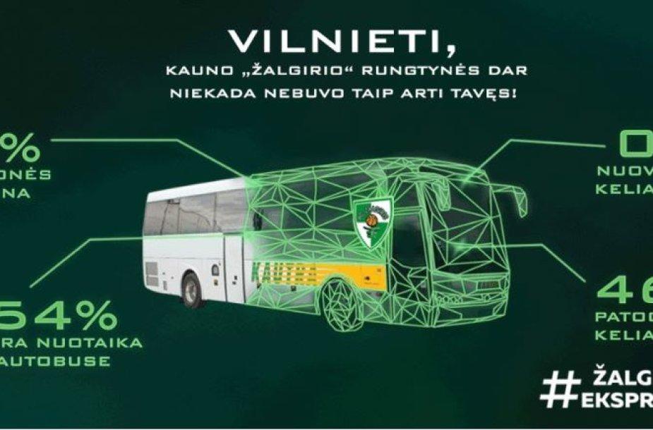 """Žalgirio autobusas"" projekto reklama"