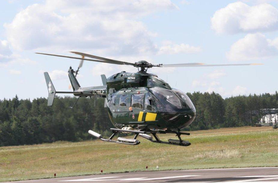 "Sraigtasparnio ""Eurocopter 145"" palydėtuvės"