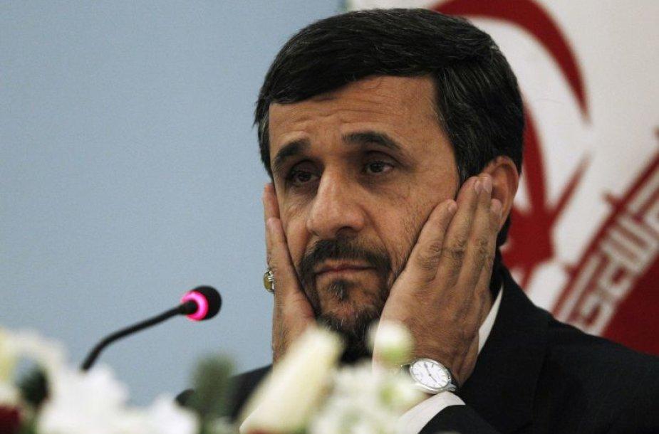 Irano prezidentas Mahmoudas Ahmadinejadas