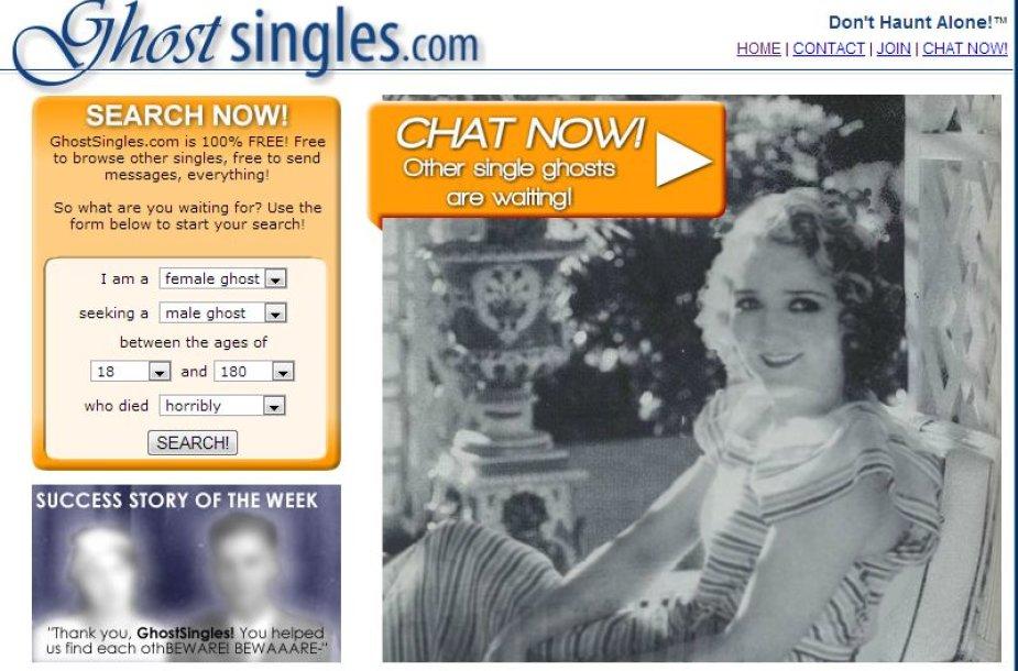 GhostSingles.com pažinčių svetaitė
