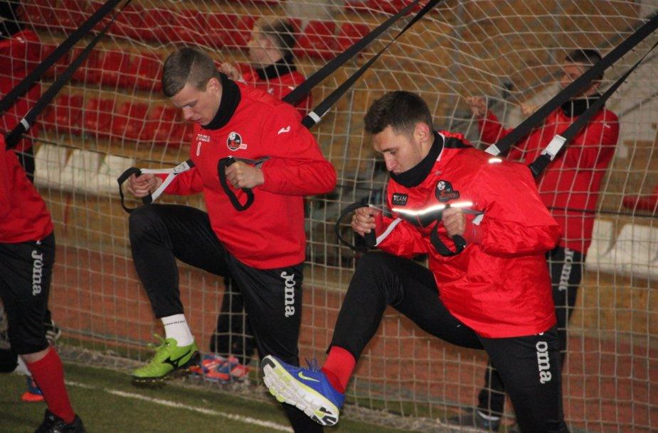 """Marijampolės """"Sūduvos"""" futbolininkai jau pradėjo pasirengimą A lygos kovoms"""