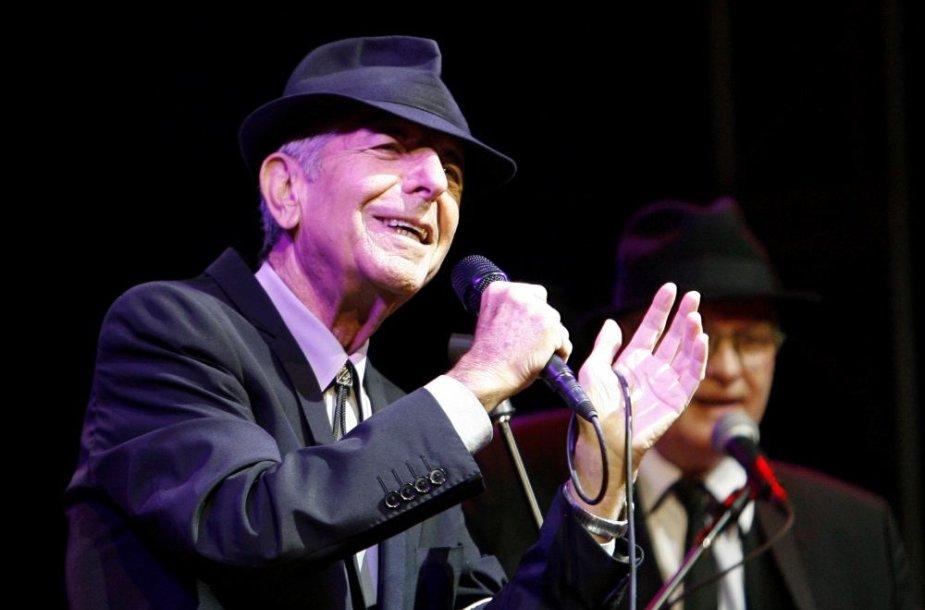 Leonardas Cohenas mirė eidamas 83-ius gyvenimo metus