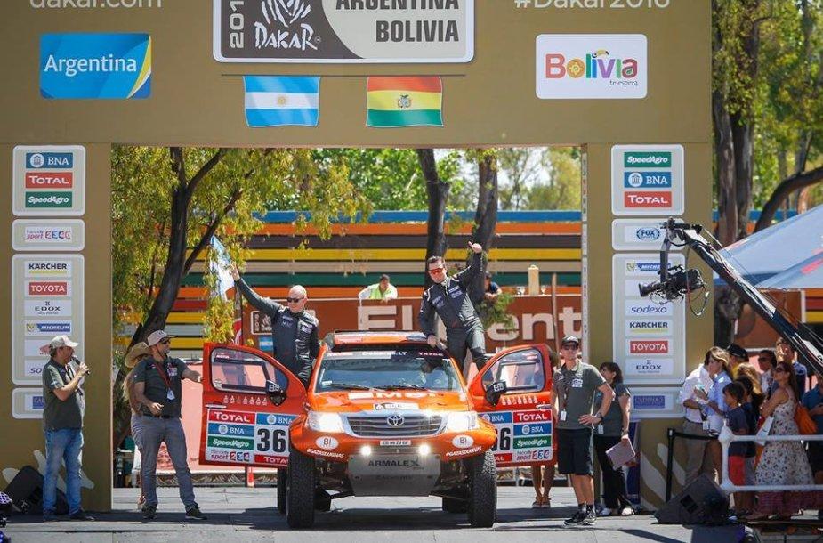 Dakaro ralio dalyvių podiumas