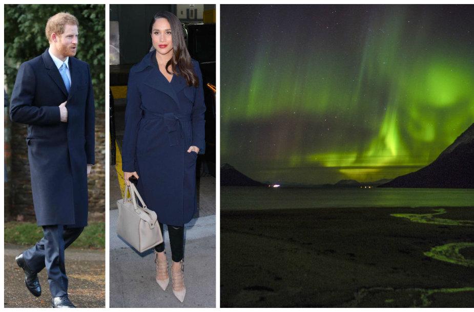 Princas Harry ir Meghan Markle Norvegijoje grožėjosi Šiaurės pašvaiste