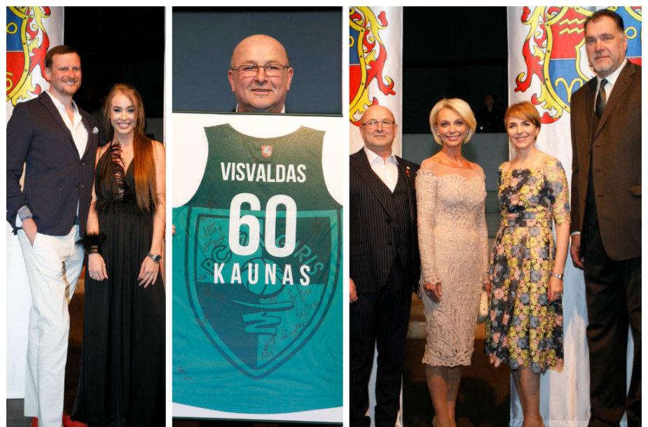 Danielius Bunkus ir Viktorija Siegel, Visvaldas Marijošaitis, Loreta Stonkienė, Arvydas Sabonis su žmona Ingrida