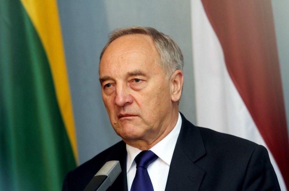 Latvijos prezidentas Andris Bėrzinis