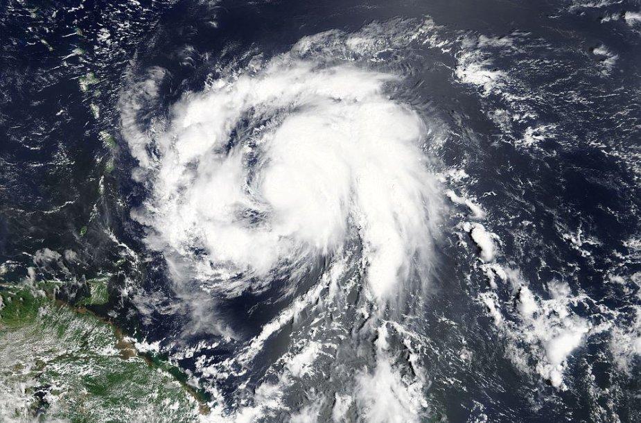 Uraganas Maria iš kosmoso