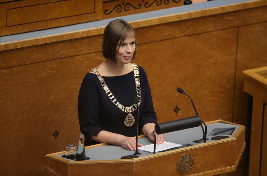 Kersti Kaljulaid prisaikdinta Estijos prezidente