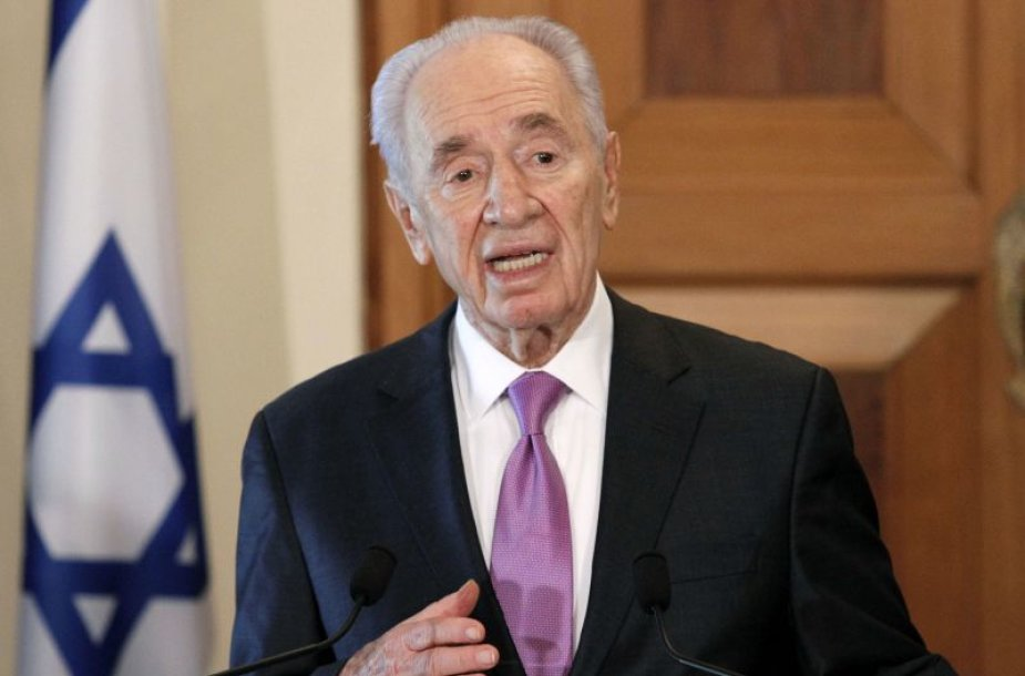 Izraelio prezidentas Shimonas Peresas