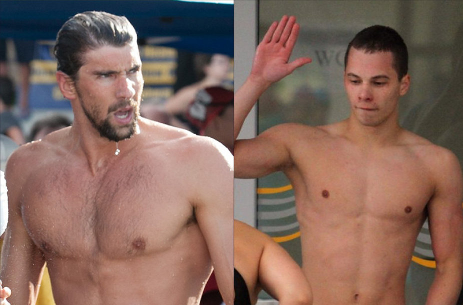 Tadas Duškinas ir Michaelas Phelpsas