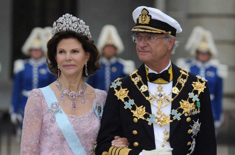 Švedijos karalius Carlas Gustafas XVI ir karalienė Silvia