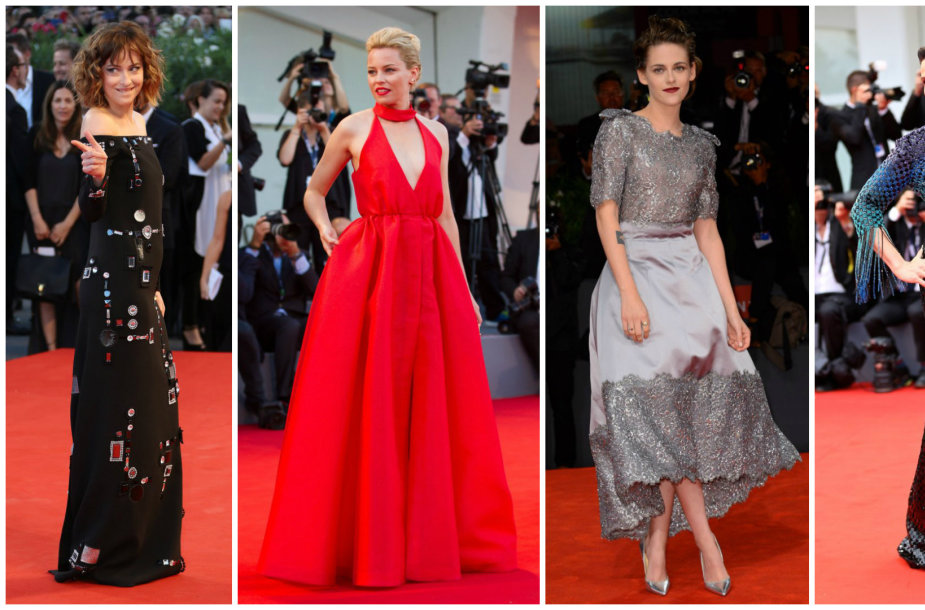 Dakota Johnson, Elizabeth Banks, Kristen Stewart ir Juliette Binoche