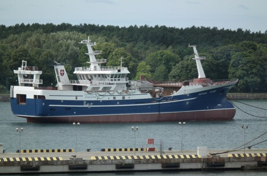 """Vakarų laivų gamykla"" pastatė žvejybinę tralerį ""Cattleya""."
