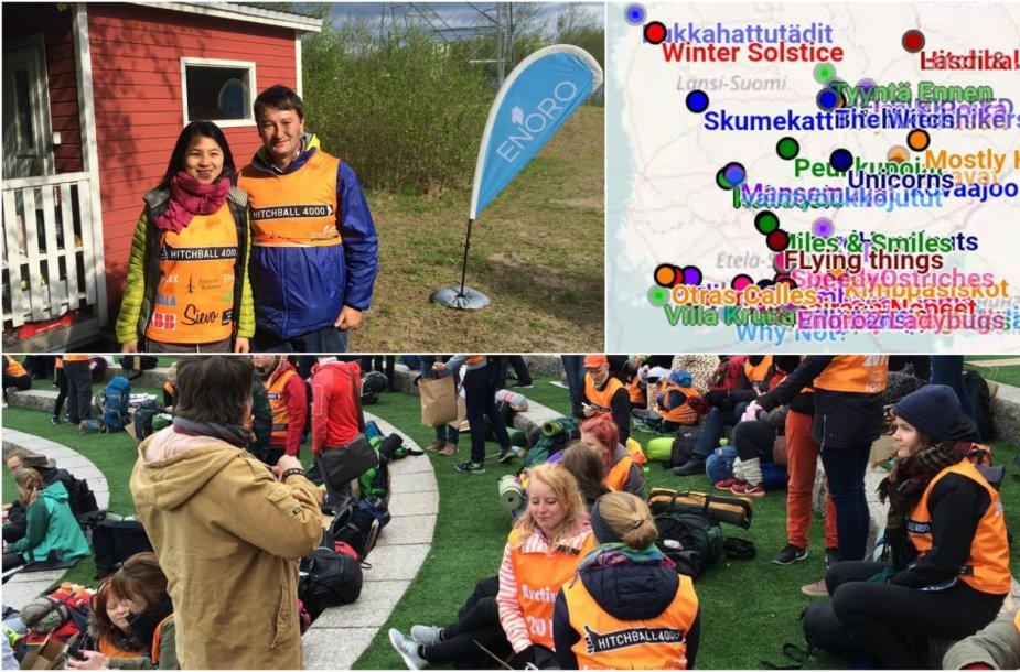 Suomijoje vykusiose autostopo varžybose dalyvavo ir lietuvis Robertas Pogorelis
