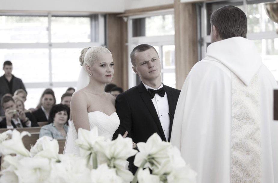 Darvydas Šernas su žmona Sandra