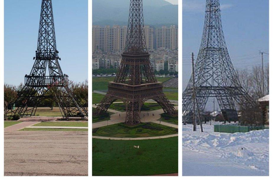 Eifelio bokšto kopijos