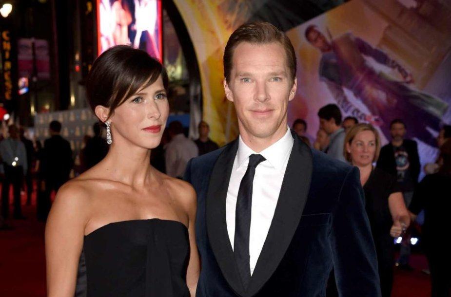 Benedictas Cumberbatchas su žmona Sophie Hunter