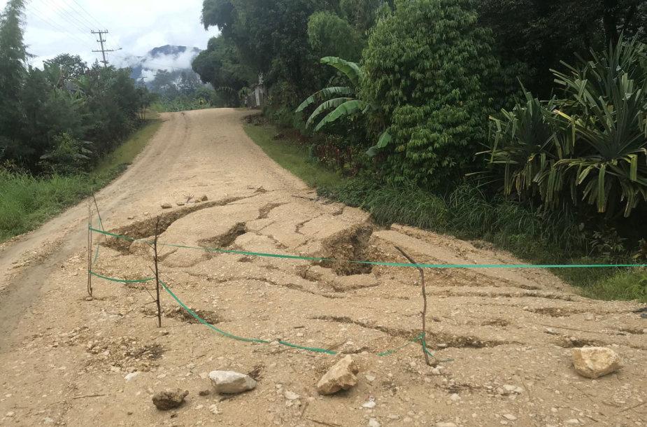 Žemės drebėjimo padariniai Papua Naujojoje Gvinėjoje