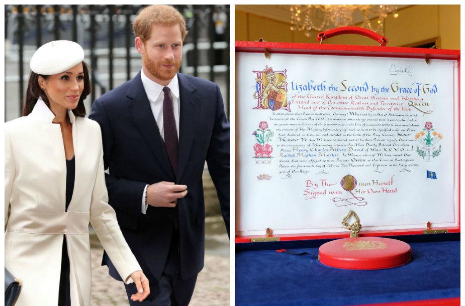Meghan Markle ir Princas Harry bei Elizabeth II sutikimas tuoktis