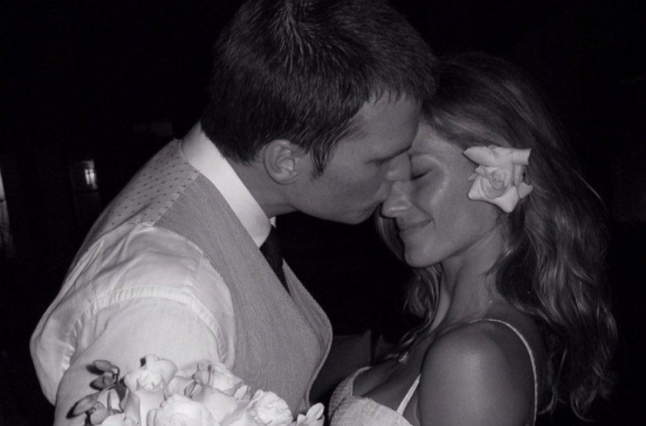 Gisele Bundchen ir Tomo Brady vestuvės
