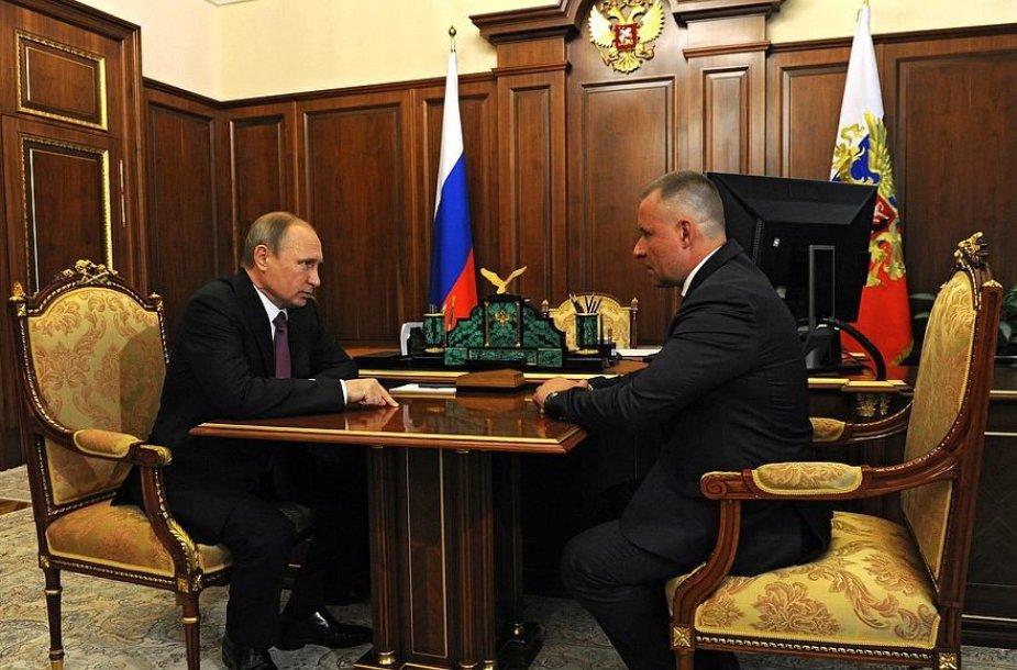 Vladimiras Putinas ir Jevgenijus Ziničevas