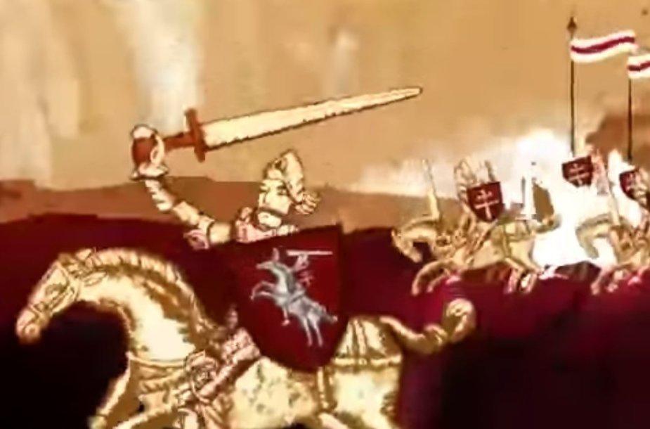 Baltarusijos reperių dainoje apie istoriją aiškinama, kad LDK valdovai buvo baltarusiai.