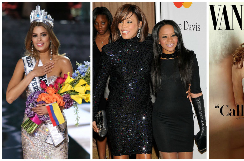 "Klaidingai ""Mis Visata"" paskelbta Ariadna Gutierrez, Whitney Houston su dukra Bobbi Kristina Brown, Caitlyn Jenner ir Miley Cyrus"