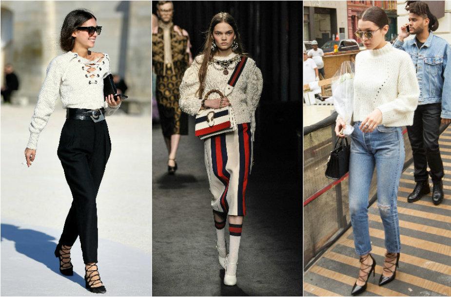 "Diletta Bonaiuti, ""Gucci"" 2016 m. rudens-žiemos kolekcijos modelis, Bella Hadid"