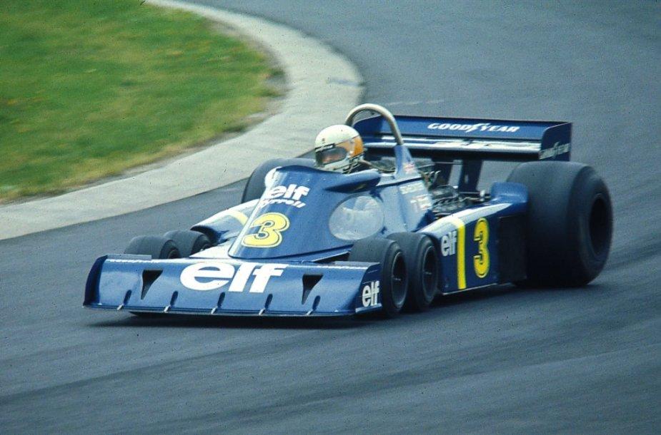 Jody Scheckteris už P34 vairo 1976 metais Vokietijoje. (Gillfoto, Wikimedia(CC BY-SA 2.0)