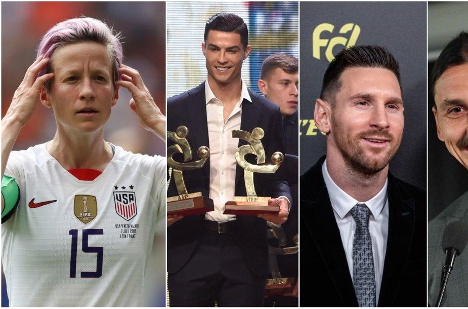Megan Rapinoe pripažinta geriausia 2019 metų futbolininke.