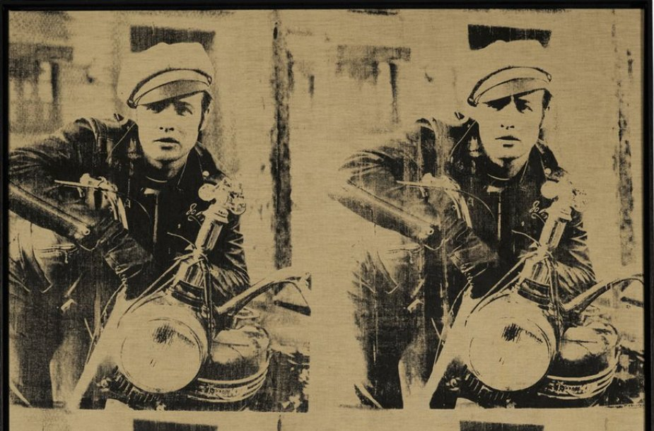 "Andy Warholo darbas ""Four Marlons"""