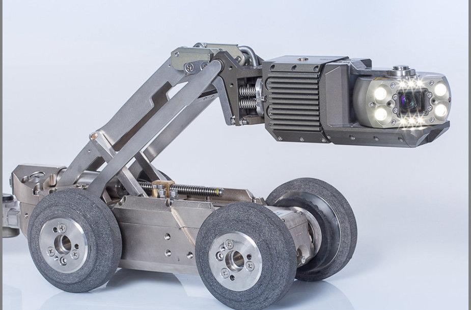 Miestų vamzdynus žvalgo robotai