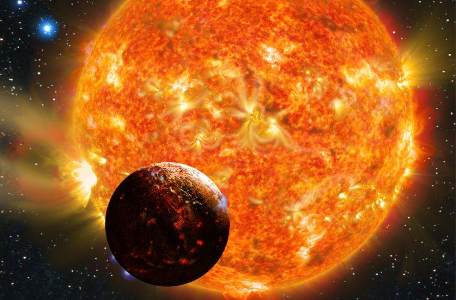 """Astronomai mano, kad egzoplanetos """"Kepler 78b"""" paviršių dengia verdanti lava."""