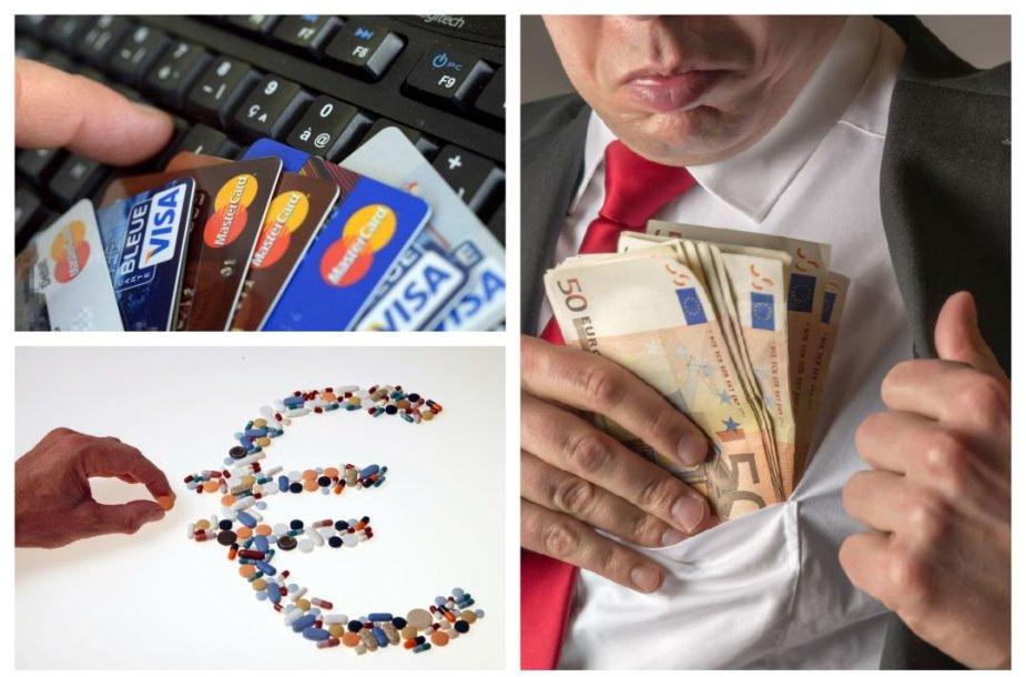 Asociatyvi iliustracija: medikamentai ir finansai