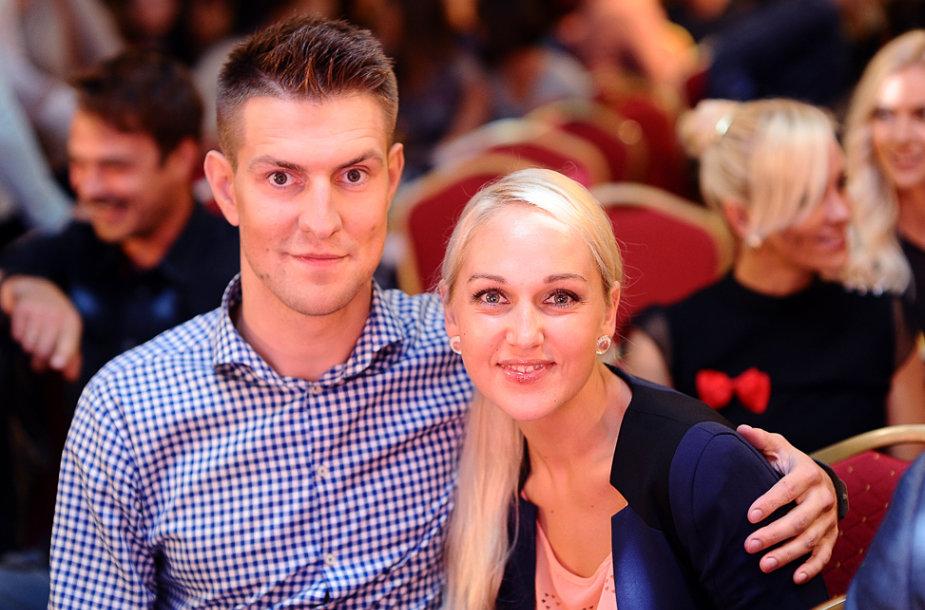 Mantas Stonkus su žmona Indre