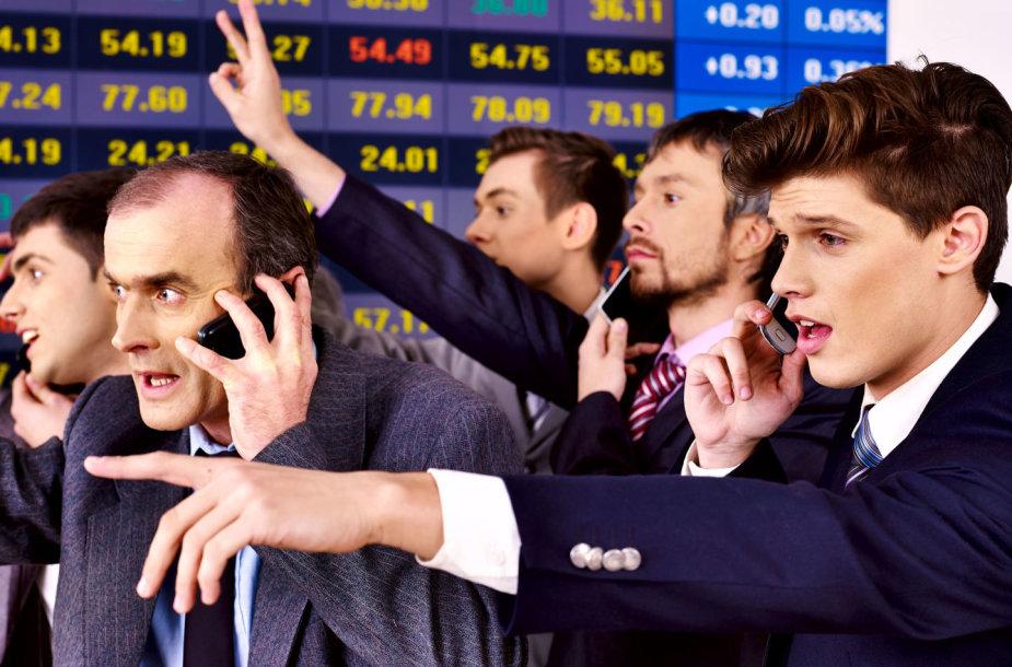 Paniškas akcijų išpardavimas biržoje