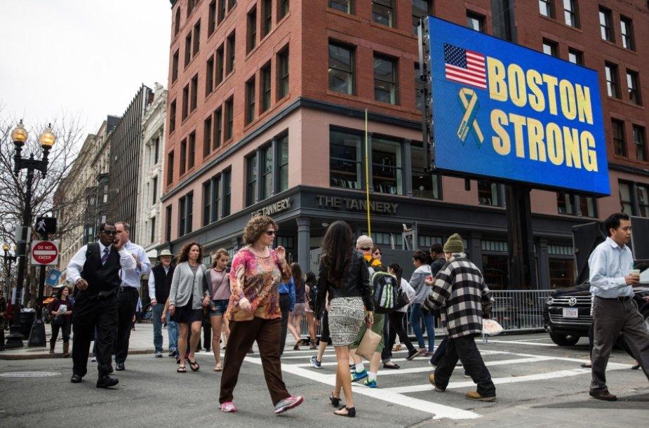 Bostono maratono finišo vieta, kur pernai sprogo dvi bombos