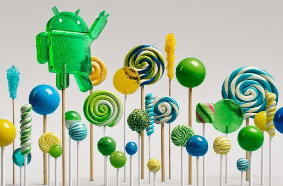 """Operacinės sistemos """"Android Lollipop"""" simbolis"""