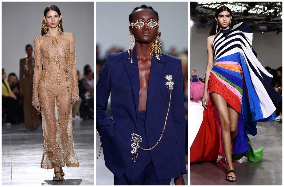 """""""Schiaparelli"""" 2020 m. pavasario ir vasaros aukštosios mados kolekcijos modeliai"""