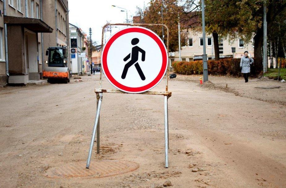 Respublikos gatvės remontas Panevėžyje