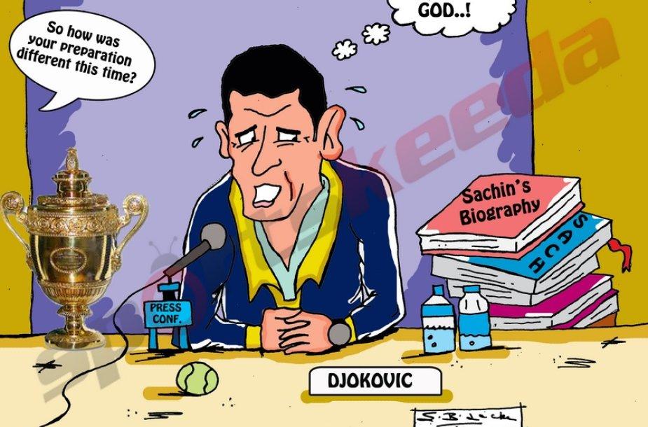 Novakas Džokovičius Vimbldono čempionu tapo du kartus