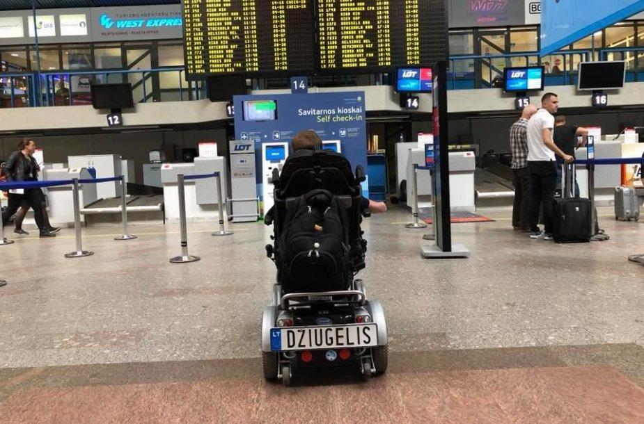Justas Džiugelis Vilniaus oro uoste