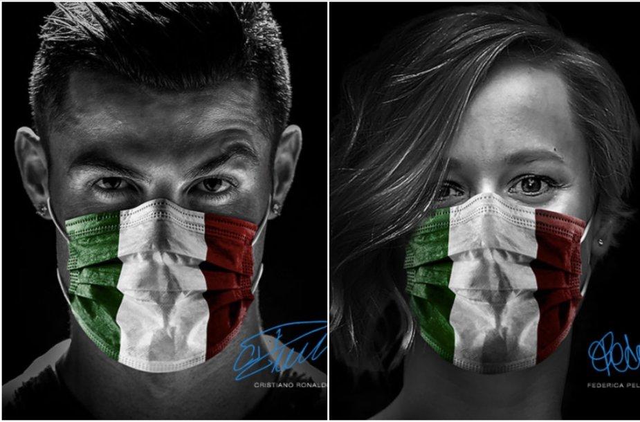 C.Ronaldo ir F.Pellegrini