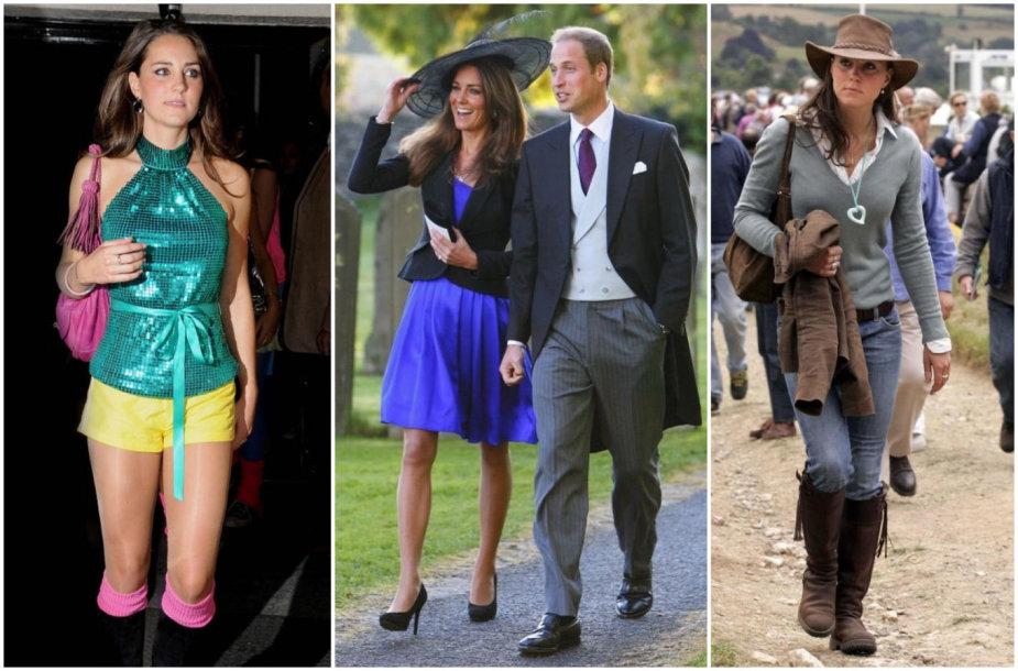 Kate Middleton įvaizdžiai iki vedybų su princu Williamu