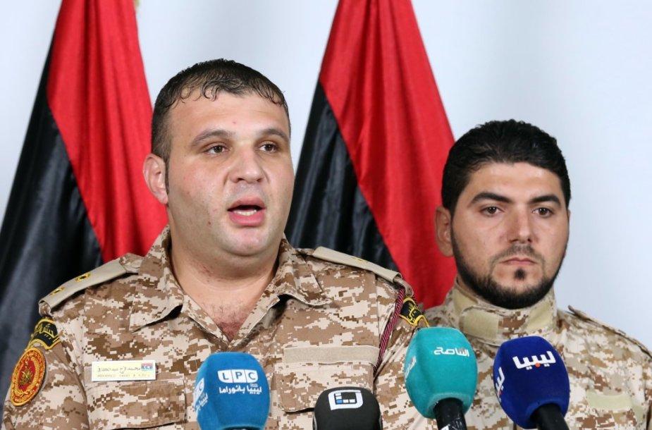 Spaudos konferencija Libijoje po lėktuvo avarijos