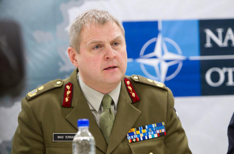 Estijos gynybos pajėgų vadas generolas majoras Riho Terras