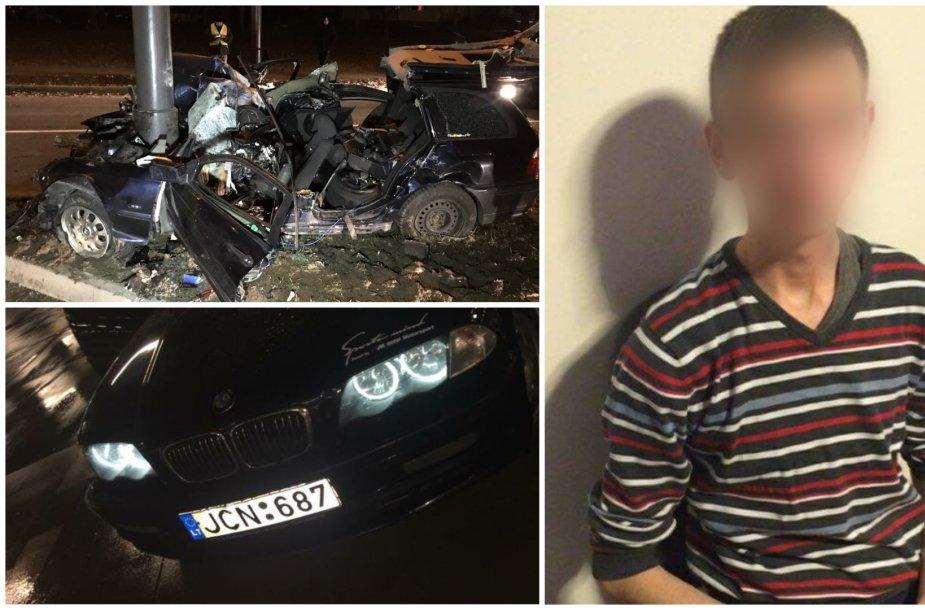 """Pareigūnams nestojusio ir tragišką avariją sukėlusio BMW vairuotojo """"Facebook"""" profilio nuotraukos"""