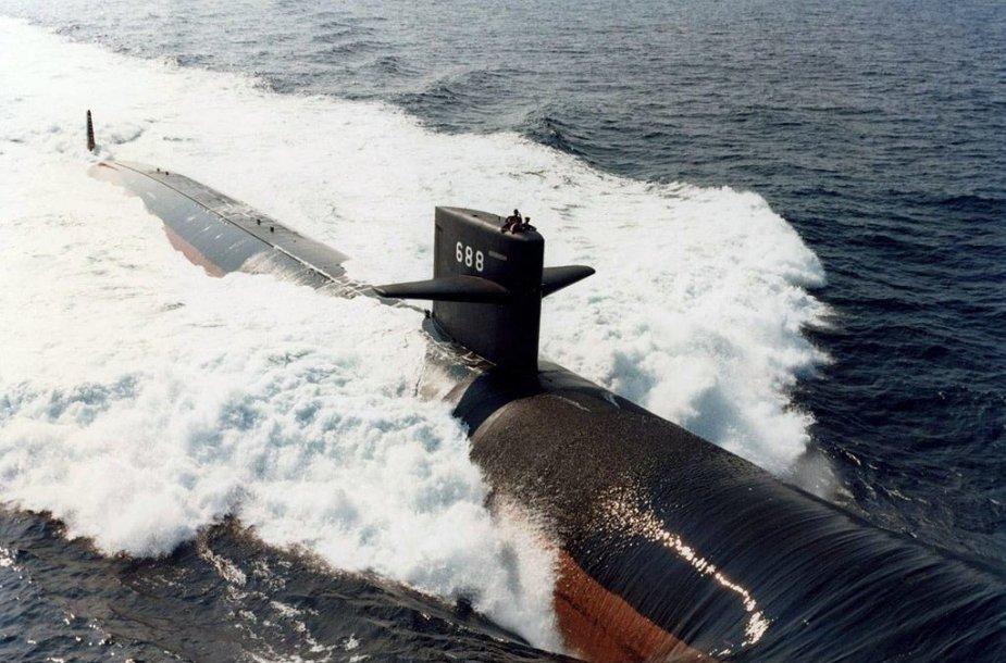 Los Angeles klasės povandeninis laivas. Tokio tipo laivas 2005 m. patyrė avariją